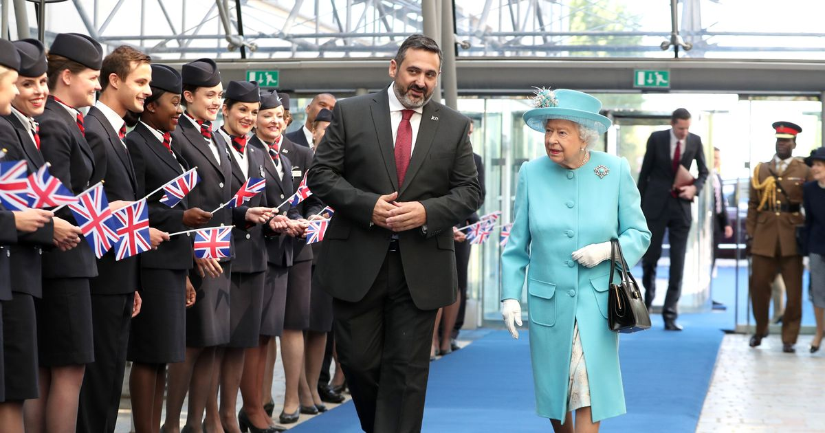 Queen visits Heathrow Airport to mark 100th anniversary of British Airways