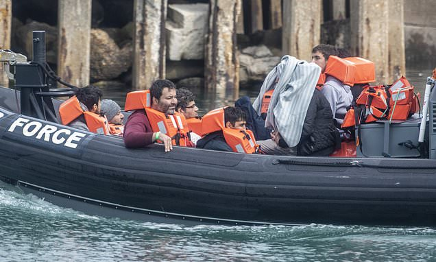 Children among 18 migrants found crammed on small boat off Kent coast