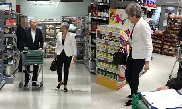 Go easy on the comfort food, Theresa! PM browses Waitrose
