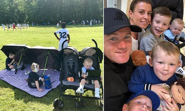 Coleen Rooney tweets snap of three boys playing on personalised iPads