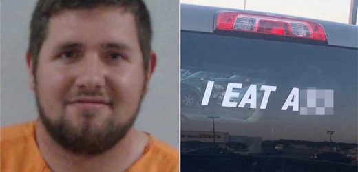 Florida man arrested over 'I eat a–' sticker gets charges dropped