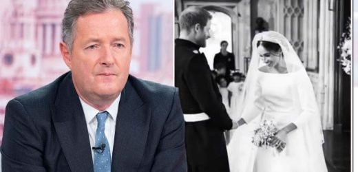Meghan Markle is branded 'fame-hungry diva' by Piers Morgan in wedding pics rant
