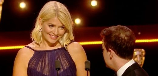 Awkward moment people missed after Ant stepped aside for Holly at BAFTAs