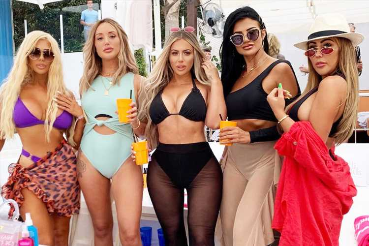 Holly Hagan makes 'same surgeon' gag as she reunites with Geordie Shore girls in Ibiza