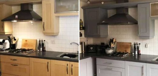 Mum reveals how she revamped her entire kitchen for just £38 using cupboard paint and handles from eBay