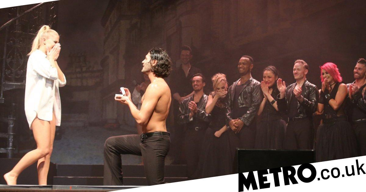 Strictly's Graziano Di Prima proposes on stage to shocked girlfriend