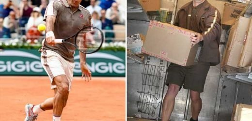 Roger Federer says his tennis shirts were not inspired by UPS