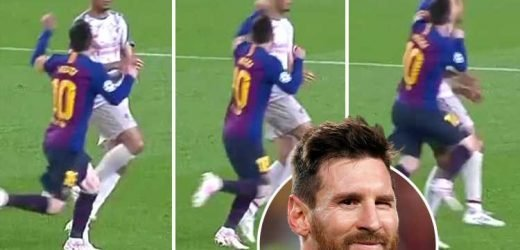 Viewers convinced Lionel Messi 'punched' Liverpool's Fabinho in the head… before rifling in free-kick