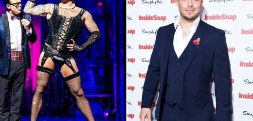 Blue hunk Duncan James is unrecognisable after outrageous transformation in kinky lingerie for the Rocky Horror musical tour – The Sun