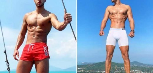 Love Island hunk Jack Fowler sends fans wild as he shows off bulge in tiny red shorts