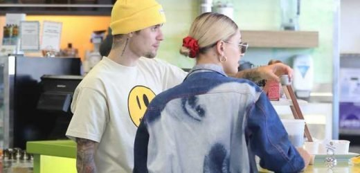 Justin Bieber Stops at Smoothie Store with Hailey Before Studio Day