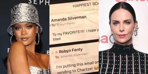 Rihanna Trolled Charlize Theron By Sending Her This T-Shirt!