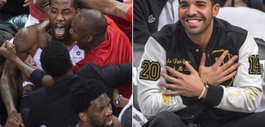 Drake uses notorious curse to doom 76ers
