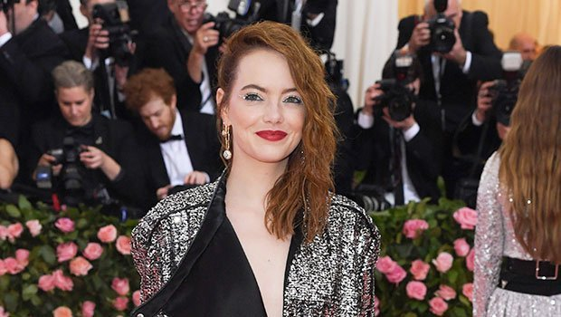 Emma Stone's Jumpsuit Packs A Serious Amount of Sparkles At The Met Gala