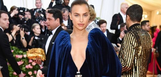 Irina Shayk Stuns in Plunging Burberry Gown at the Met Gala