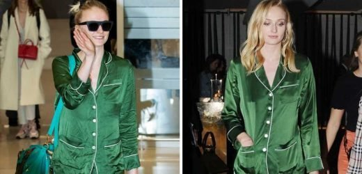 Sophie Turner Wears Silk Pajamas to a Party—and the Airport