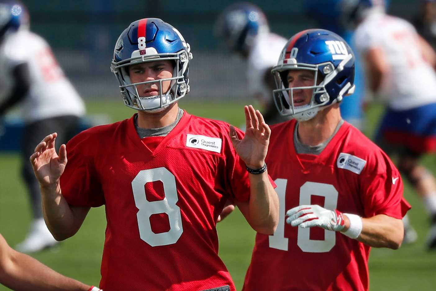 Eli Manning knows the threat he's now dealing with