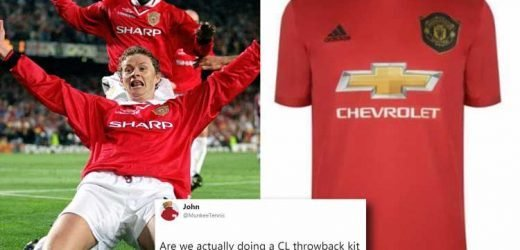 New Man Utd shirt leaked as kit goes on sale early.. but fans embarrassed by Champions League throwbacks
