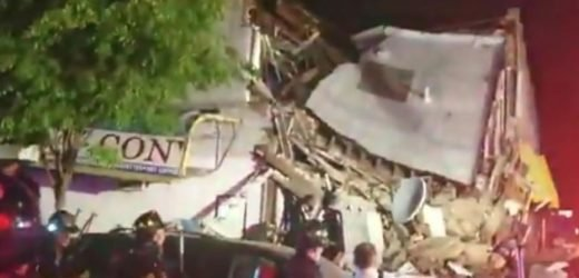 New York City building collapses after car plows into it