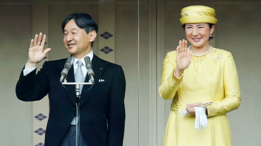 Japan's emperor greets public for 1st time since succession