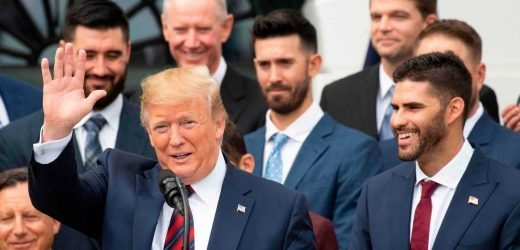 Donald Trump praises Red Sox at White House ceremony as several players, manager skip event