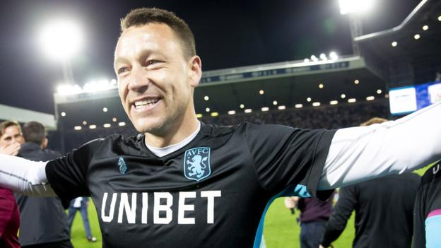 John Terry: Fans left disappointed after Aston Villa play-off win