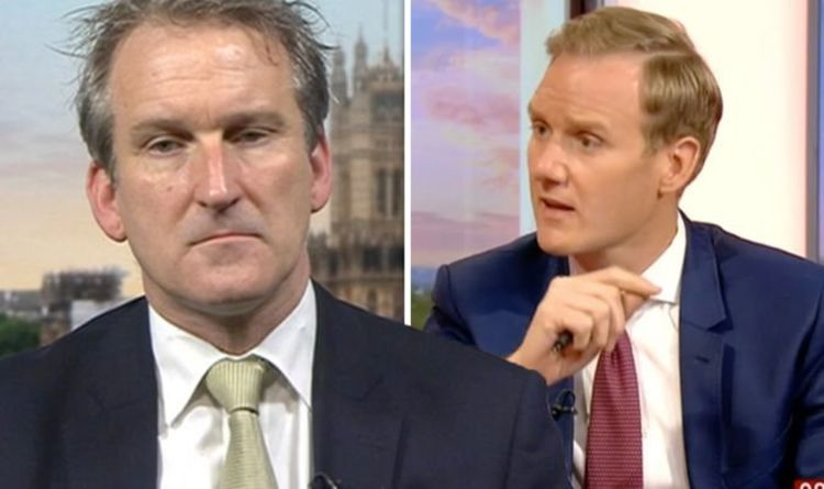 BBC News: 'What on earth?' Damian Hinds distracts viewers in Dan Walker interview