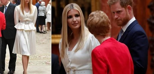 Prince Harry and Ivanka Trump view the Royal Collection together