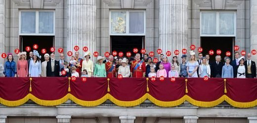Who's who on the palace balcony?