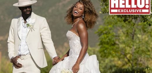 First picture of Fleur East's Moroccan wedding to beau Marcel revealed