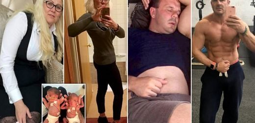 Parents lost NINE stone between them in just one year