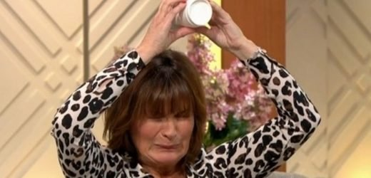 Lorraine Kelly risks getting soaked as she takes part in daring magic trick