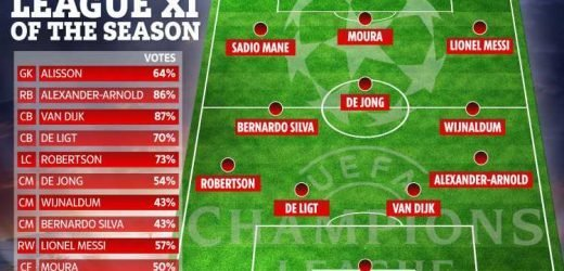 Six Liverpool players make Champions League team of year… with only one Spurs star