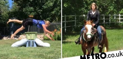 Teen loves animal show so much, she now gallops like a horse everywhere