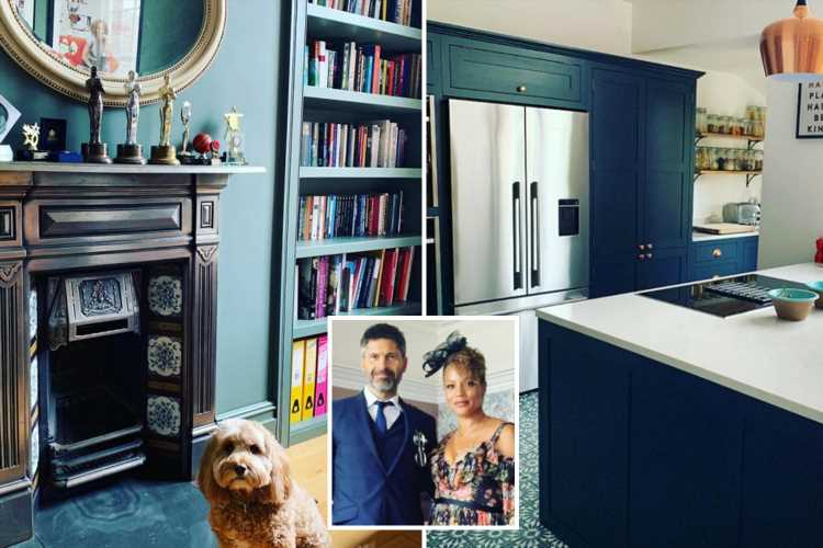 Inside Coronation Street's Angela Griffin's stunning Victorian villa with huge kitchen, a full wall of windows and sumptuous sofa – The Sun