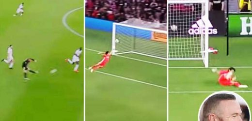Watch as Wayne Rooney scores from halfway line for THIRD time in career as England legend continues to tear up MLS for DC United