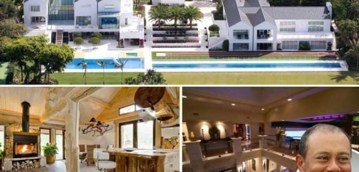 Inside Tiger Woods' £41m Florida mansion with a four-hole golf practice area and 100ft swimming pool on Jupiter Island