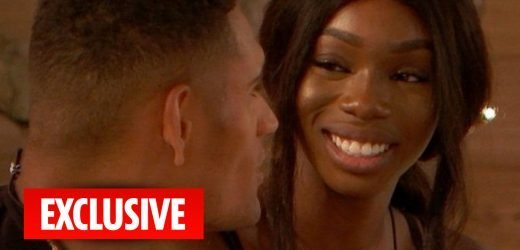 Love Island's Yewande Biala and Danny Williams snog for the first time as their romance heats up