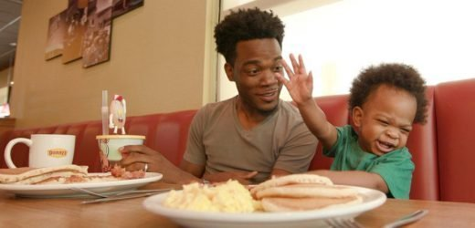 Denny's Filmed a Great Commercial With the Dad and Baby Who Went Viral Last Week for Their Conversation