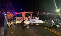 Suspected drunk driver crashes into parked sheriff's vehicle with deputies inside