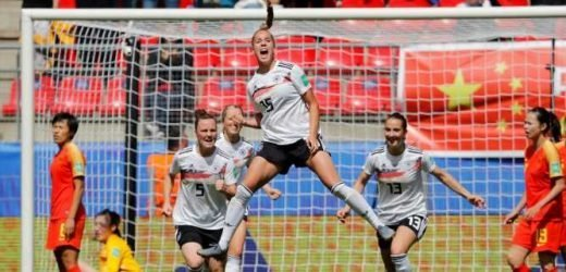 A German teenager scored an extraordinary long-range goal on her Women's World Cup debut