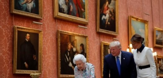 British queen shows Donald Trump family golf snaps