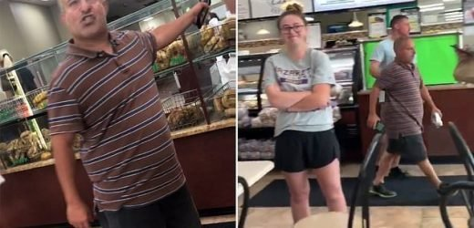 Man rants about women 'hating men of his size' in New York bagel shop