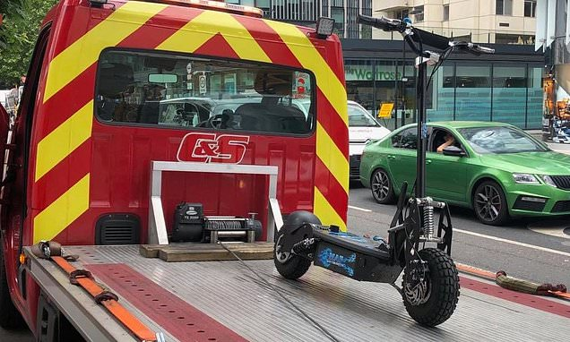 Woman in her 30s riding an electric scooter is knocked down and killed