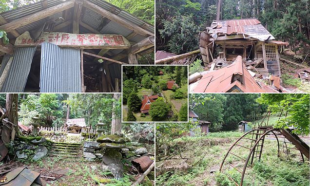 Fascinating moment explorer uncovers abandoned Japanese village