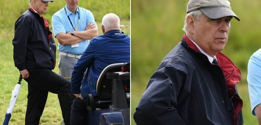 Prince Andrew arrives on Day Two of the 148th golf Open Championship