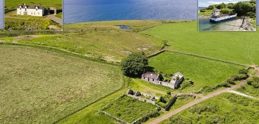 Scottish island with four-bedroom house and a ferry on sale for £1.4m
