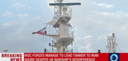 Iran's flag is hoisted over seized British oil tanker
