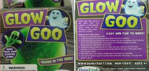 Safety chiefs issue urgent recall notice for Glow Goo toy slime