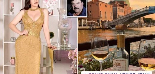 Globetrotting wife of jailed El Chapo enjoys a dinner date in Venice